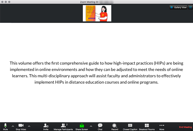 High-Impact Practices in Online Education Book Description