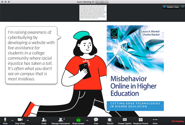 Misbehavior Online in Higher Education Book Scenario