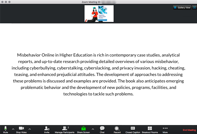 Misbehavior Online in Higher Education Book Description