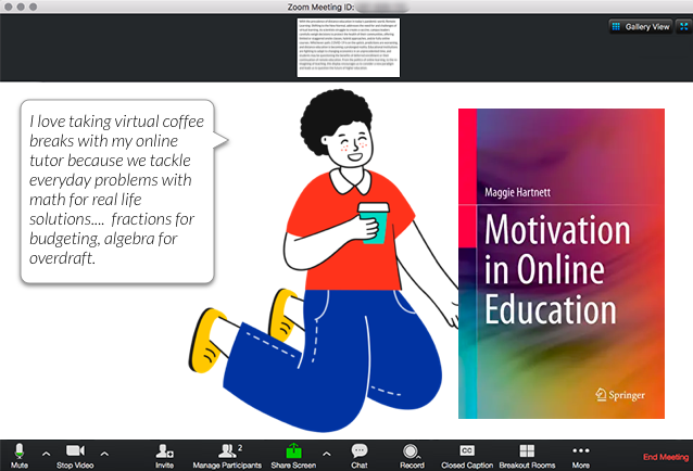 Motivation in Online Education Book Scenario