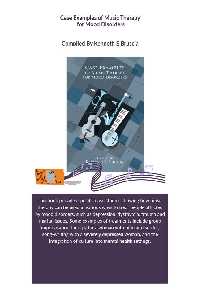 Case examples of music therapy for mood disorders Book Cover