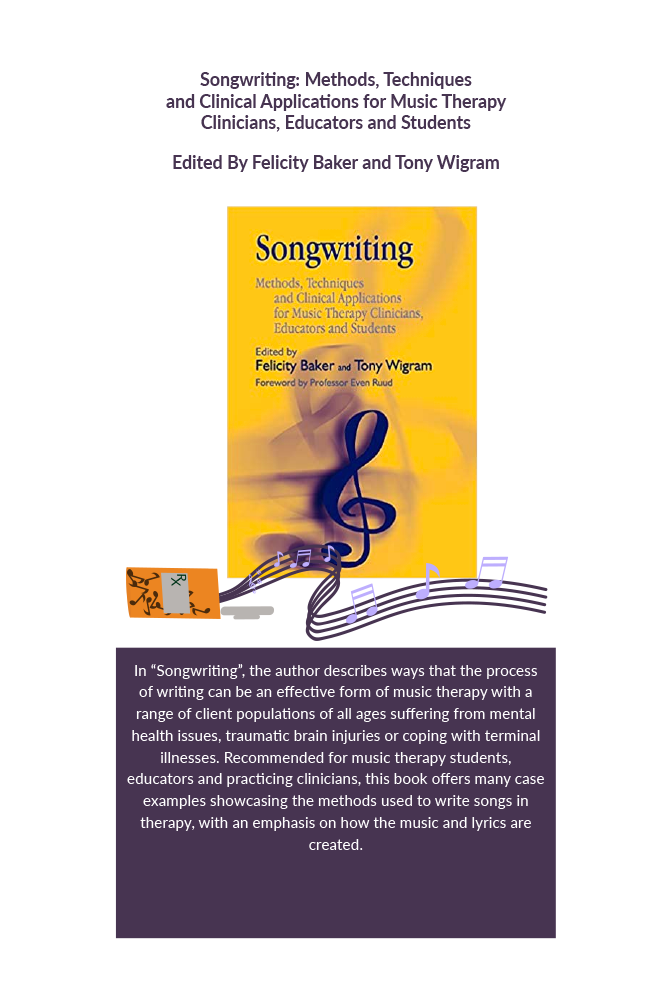 Songwriting : methods, techniques and clinical applications for music therapy clinicians, educators and students Book Cover