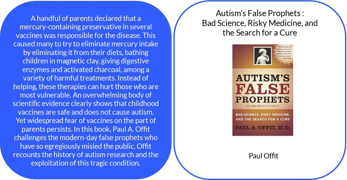 Autisms False Prophets : Bad Science, Risky Medicine, and the Search for a Cure