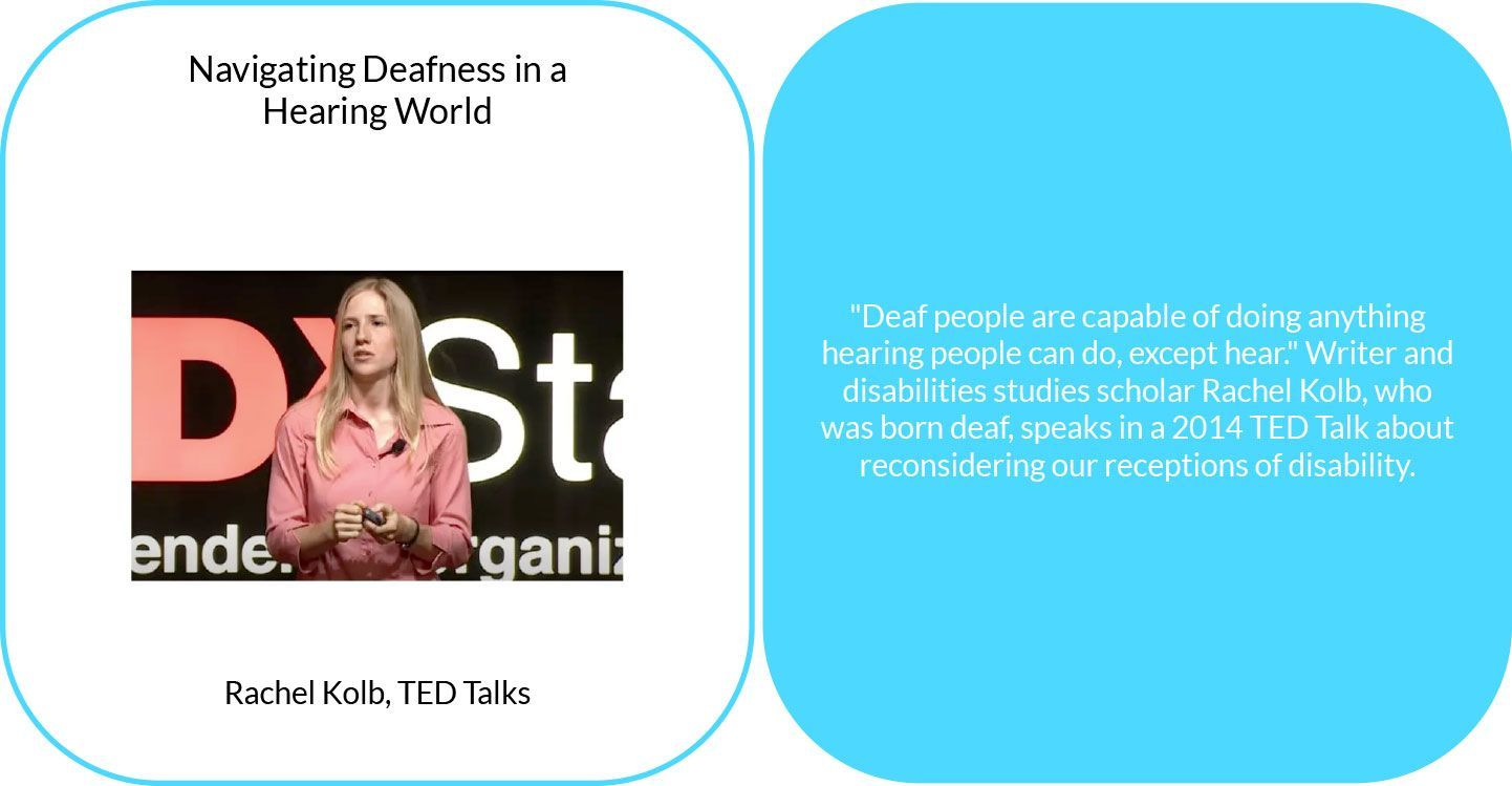 Navigating deafness in a hearing world