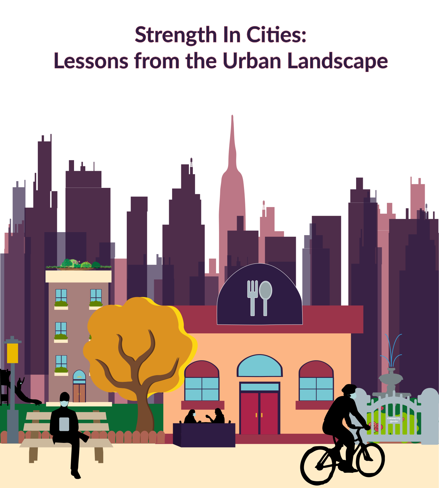Interchanging Urban City Landscapes in New York,London, Beijing, Mexico City.