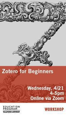 Library Poster - Zotero for Beginners