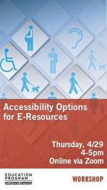 Library Poster - Accessibility Workshop
