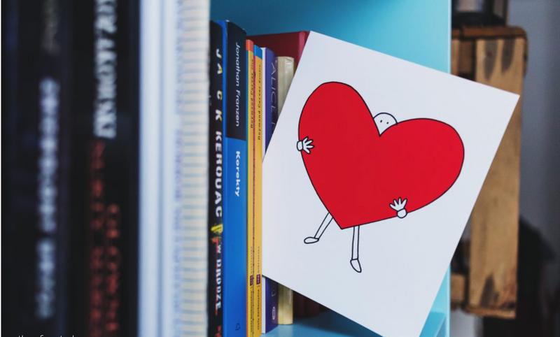 Book Shelf with Valentine