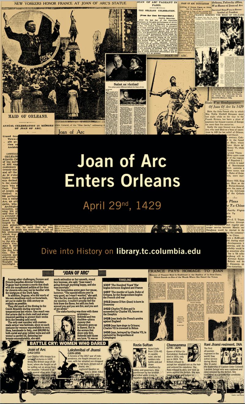 Special News Slide - Joan of Arc