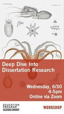 Deep Dive Into Dissertation Research Poster