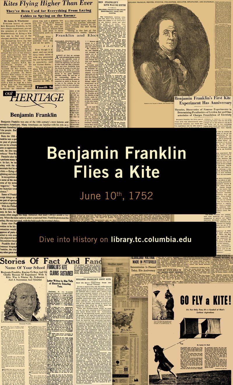 Special Slide- Franklin Flies a Kite