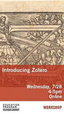 Zotero Workshop - Poster