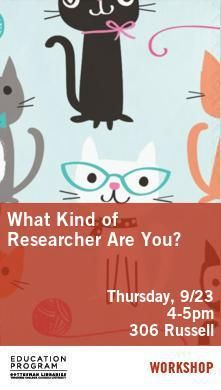 Poster - What Kind of Researcher?