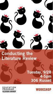 Poster - Conducting the Literature Review