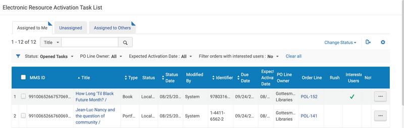 acquisitions screenshot